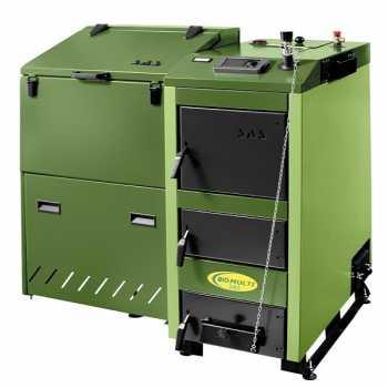 Котел стальной твердотопливный SAS BIO MULTI 42 кВт с автоматикой