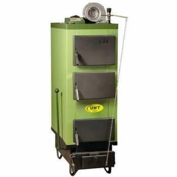 Котел отопления твердотопливный стальной SAS UWT 14 кВт с автоматикой